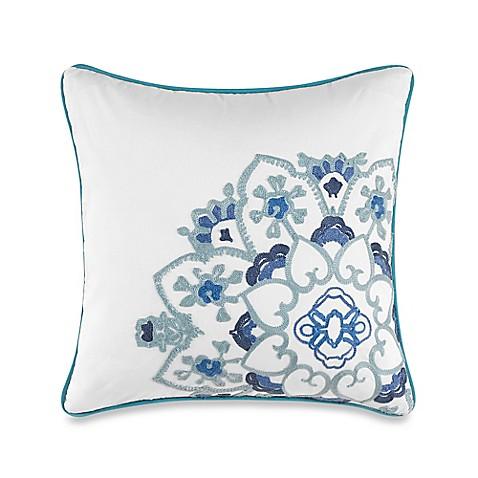 Blue Medallion Throw Pillows : Anthology Kaya Medallion Square Throw Pillow in Blue - BedBathandBeyond.com