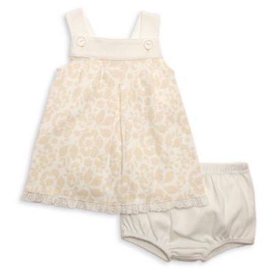 Rosie Pope Size 18M 2-Piece Scalloped Hem Sleeveless Dress and Diaper Cover Set