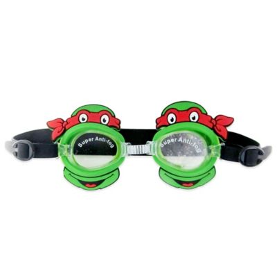 Teenage Mutant Ninja Turtles Kids' Swim Goggles in Green/Black