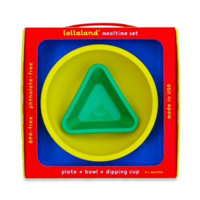Lollaland® 3-Piece Mealtime Set in Blue/Yellow/Green