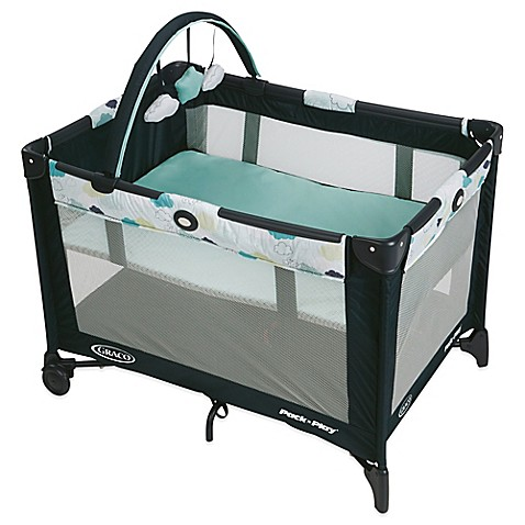 graco pack 39 n play on the go travel playard in stratus buybuy baby. Black Bedroom Furniture Sets. Home Design Ideas