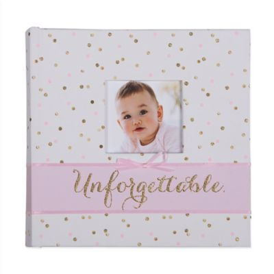 "Carter's® Sweet Sparkle ""Unforgettable"" Photo Journal Album in Pink"
