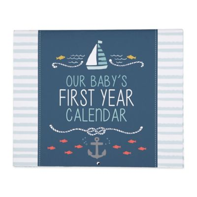 "Carter's® Under the Sea ""Our Baby's First Year Calendar"" in Blue"