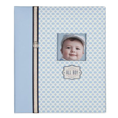 "C.R. Gibson ""All Boy"" Loose Leaf Memory Book in Blue"