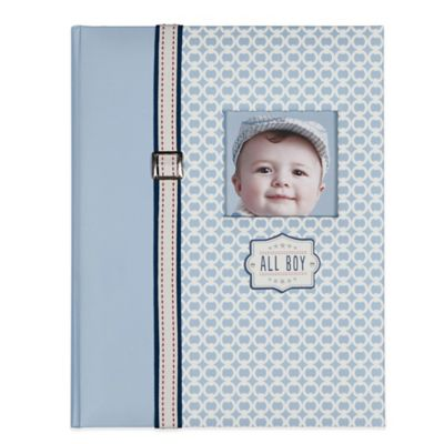 "C.R. Gibson ""All Boy"" Memory Book in Blue"