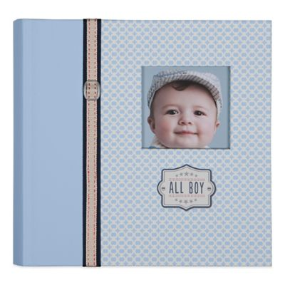 "C.R. Gibson ""All Boy"" Slim Bound Photo Journal Album in Blue"
