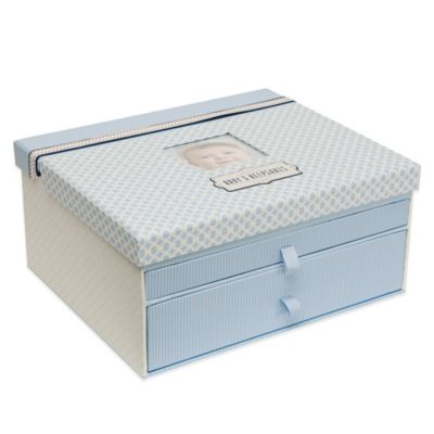"C.R. Gibson All Boy ""Baby's Keepsakes"" Box in Blue"
