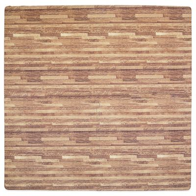 Tadpoles Wood Print Play Mat in Dark Oak
