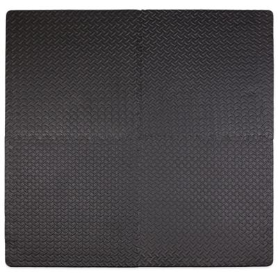 Tadpoles 4-Piece Steel Plate Play Mat in Black