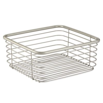InterDesign® Forma® Medium Ultra Basket in Satin Nickel