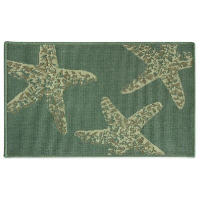 Bacova 19.7-Inch x 32.8-Inch Starfish Kitchen Rug