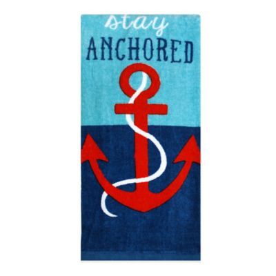 """Stay Anchored"" Fiber Reactive Kitchen Towel"