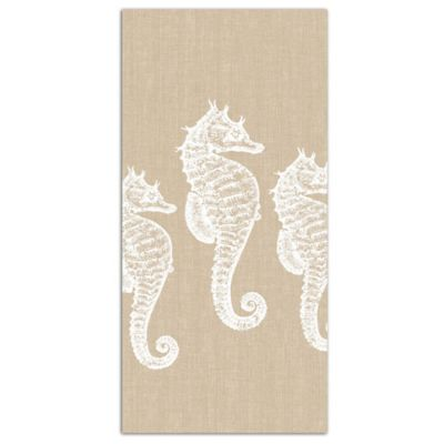Seahorse Chambray Tea Towel