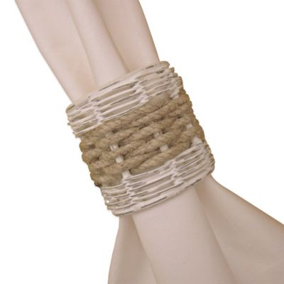 Ships Ahoy Metal and Rope Napkin Ring