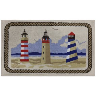 Mohawk 18-Inch x 30-Inch Lighthouse Berber Printed Kitchen Rug