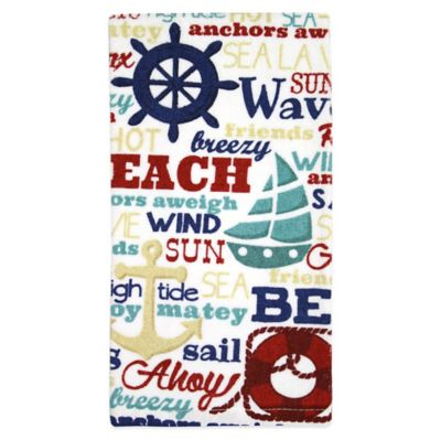 Kitchensmart® Nautical Words Kitchen Towel