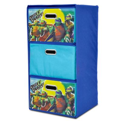 TMNT Collapsible 3-Drawer Storage Tower
