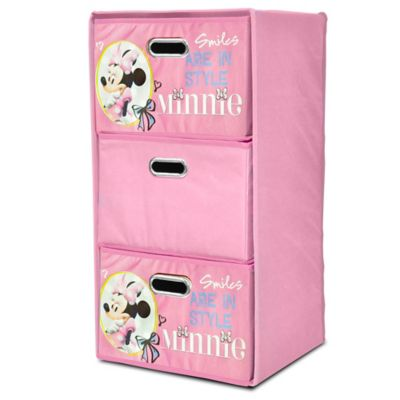 Disney® Minnie Collapsible 3-Drawer Storage Tower