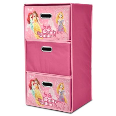 Disney® Princess Collapsible 3-Drawer Storage Tower