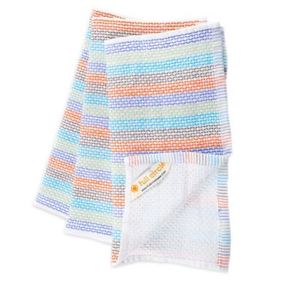 Full Circle In The Buff 100% Organic Cotton Multicolored Dish Towels (Set of 3)