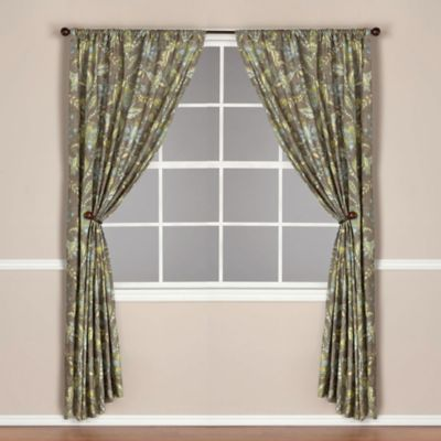 World Market® Tamara Lined Rod Pocket 63-Inch Window Curtain Panel