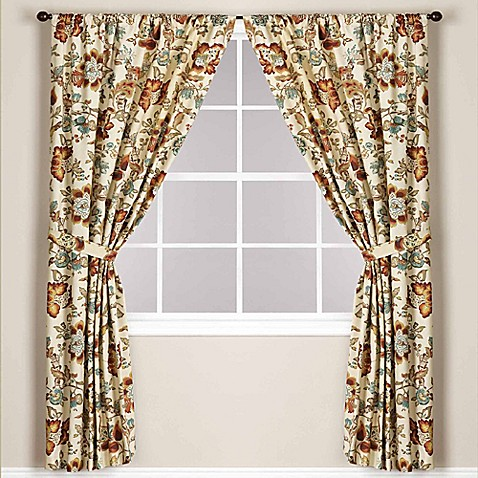 World Market Malli Lined Rod Pocket Window Curtain Panel Bed Bath Beyond