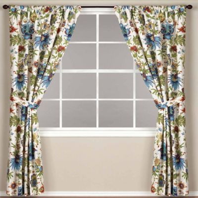 World Market® Floral Fiesta Rod Pocket 84-Inch Window Curtain Panel