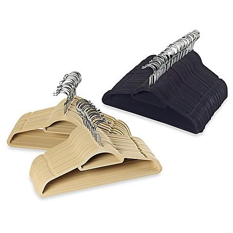 Real Simple® Slimline 50-Count Flocked Suit Hangers