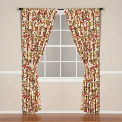 World Market® Campione Rod Pocket/Back Tab 108-Inch Lined Window Curtain Panel