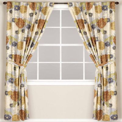 World Market® Mackenzie Lined Rod Pocket/Back Tab 108-Inch Window Curtain Panel in Mineral