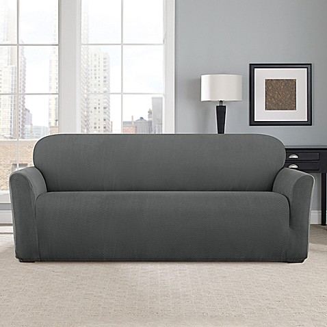 Buy Sure Fit Modern Chevron Sofa Slipcover From Bed Bath Beyond