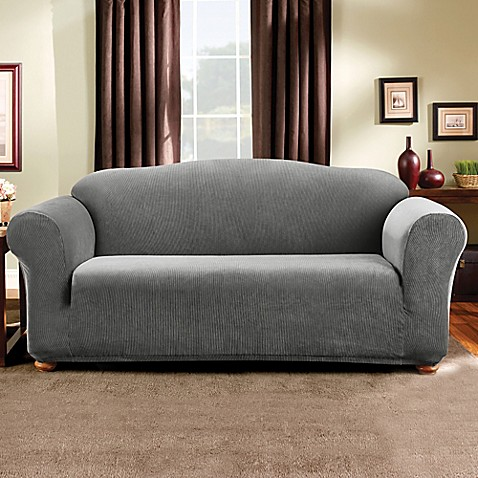 Sure Fit Madison Stripe Sofa Slipcover Bed Bath Beyond