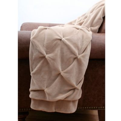 Brown Fleece Throw