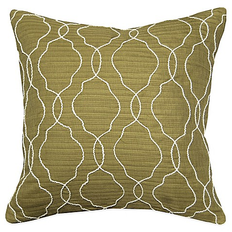 Myop Throw Pillow Covers : MYOP Club Embroidery Square Throw Pillow Cover in Green - BedBathandBeyond.com