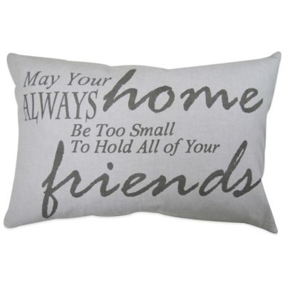 "The Vintage House by Park B. Smith® ""Always Friends"" Oblong Throw Pillow"