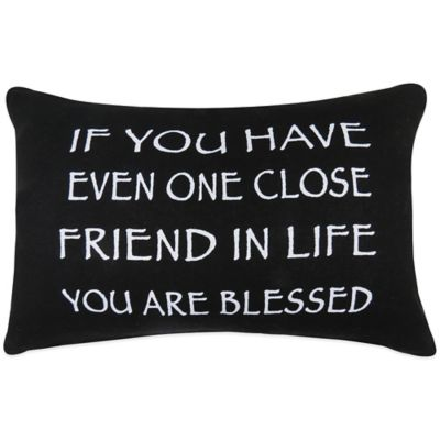 "The Vintage House by Park B. Smith® ""Blessed Friends"" Oblong Throw Pillow"
