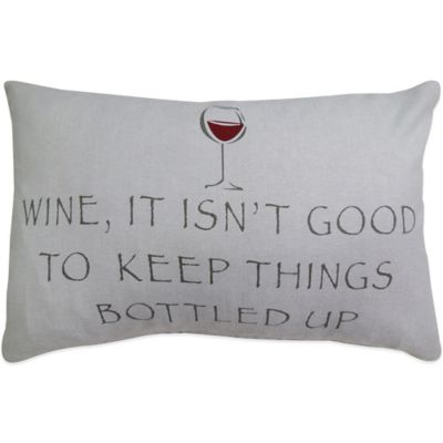 Park Your Wine Oblong Throw Pillow