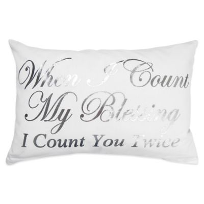 "The Vintage House by Park B. Smith® ""Count You Twice"" Oblong Throw Pillow"