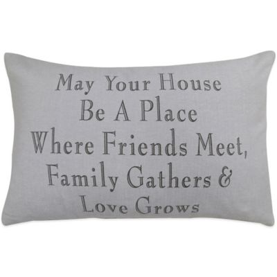 "The Vintage House by Park B. Smith® ""Family Gathers"" Oblong Throw Pillow"