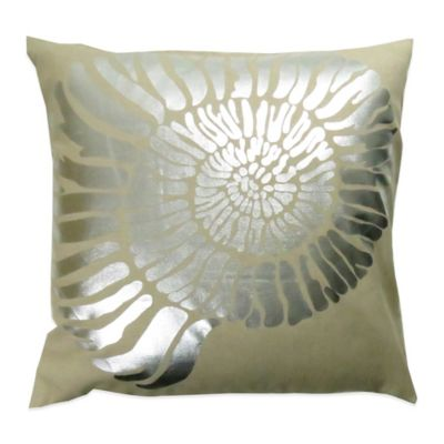 The Vintage House by Park B. Smith® Foil Shell Oblong Throw Pillow