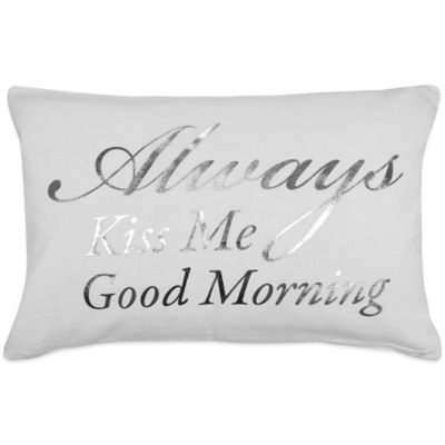 "The Vintage House by Park B. Smith® ""Good Morning"" Oblong Throw Pillow"
