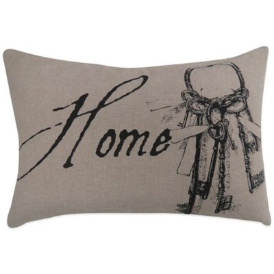 "The Vintage House by Park B. Smith® ""Home Key"" Oblong Throw Pillow"