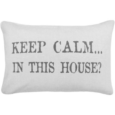 "The Vintage House by Park B. Smith® ""In This House"" Oblong Throw Pillow"