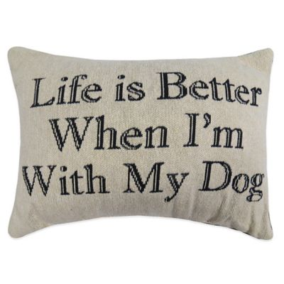 "The Vintage House by Park B. Smith® ""Life Is Better"" Oblong Throw Pillow"