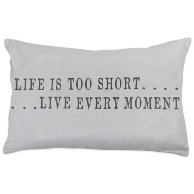 "The Vintage House by Park B. Smith® ""Life Too Short"" Oblong Throw Pillow"
