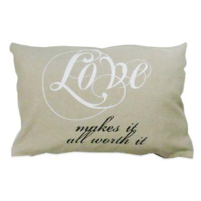 Oblong Throw Pillow Vintage