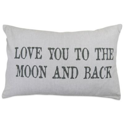 "The Vintage House by Park B. Smith® ""Moon"" Oblong Throw Pillow"