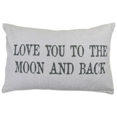 """Moon"""" Oblong Throw Pillow"""