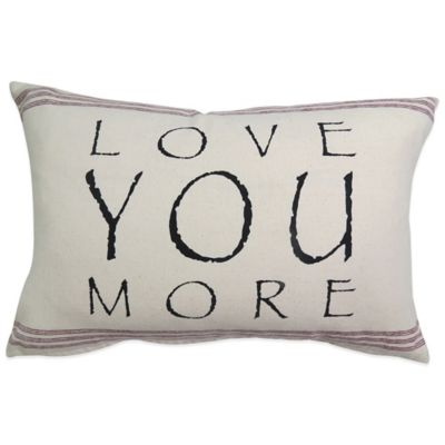 "The Vintage House by Park B. Smith® ""Love You"" Oblong Throw Pillow"