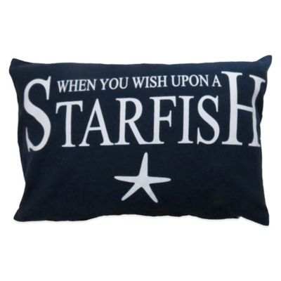 "The Vintage House by Park B. Smith® ""Wish upon a Starfish"" Oblong Throw Pillow"